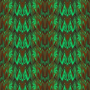 Tearful Ogre Bargello, Brown, Tan and Green
