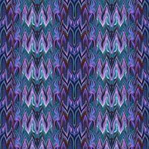 Tearful Ogre Bargello, Lavender, Teal and Brown, small