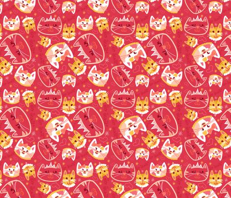 diva-cats fabric by emilycromwell on Spoonflower - custom fabric