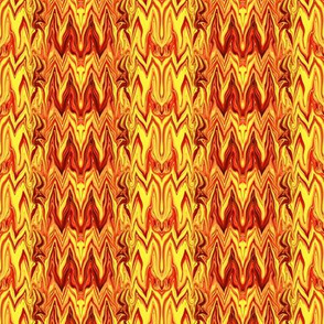 Tearful Ogre Bargello,  Red, Orange, Yellow, Small