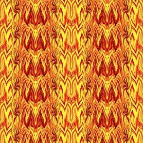 Tearful Ogre Bargello,  Red, Orange, Yellow, Small