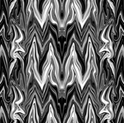 Tearful Ogre Bargello, Black and White, small