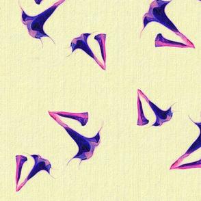 Lotus on Linen Purples