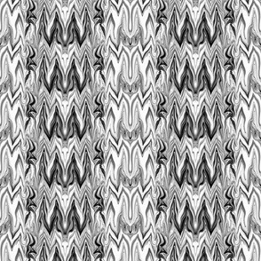 Tearful Ogre Bargello, Black, White and Grey, small