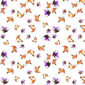 Lotus on Linen Orange & Lilac