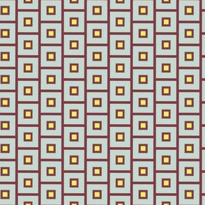 Maroon Squares with Lemon center_Miss Chiff Designs