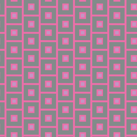 17-03J Modern Geometric Squares    Grey Gray Pink purple lilac periwinkle blue quilt coordinate _ Miss Chiff Designs fabric by misschiffdesigns on Spoonflower - custom fabric