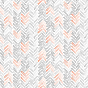 blush gray herringbone