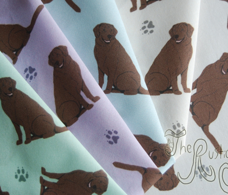 Tiny Chocolate Labrador Retrievers - purple