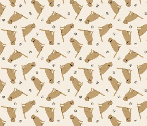 Tiny Yellow Labrador Retrievers - tan fabric by rusticcorgi on Spoonflower - custom fabric