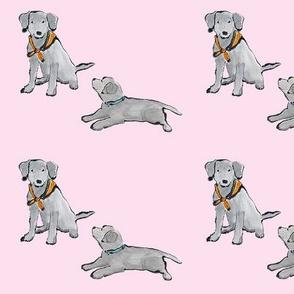 Black_Lab_Puppies_Pink_Mono_Print