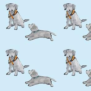 Lab_Puppies_BabyBlue_Mono_Print