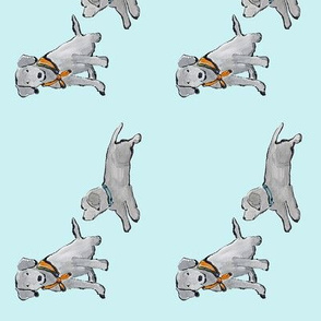 Lab_puppies_Aqua_Mono-Print