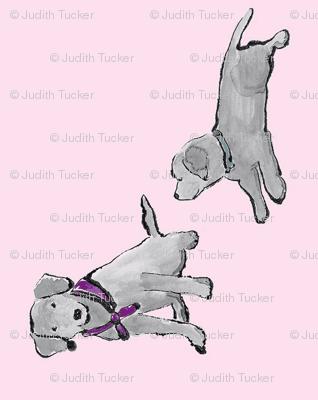 Lab_Puppies_Pink_Mono_Print