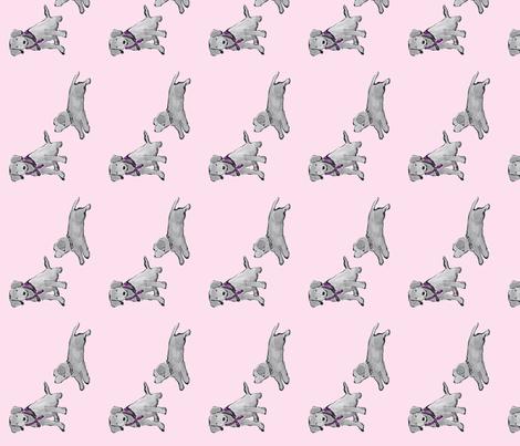 Lab_Puppies_Pink_Mono_Print fabric by sleepingdogquilts on Spoonflower - custom fabric