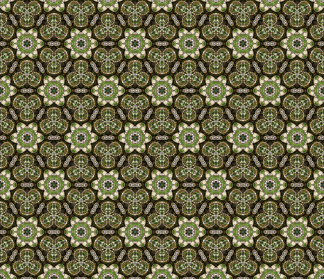 Green Atoms fabric by bronys_studio_and_shop on Spoonflower - custom fabric