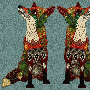 fox love aya damask
