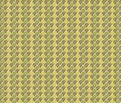 Scales - Autumn Greens fabric by jodiebarker on Spoonflower - custom fabric