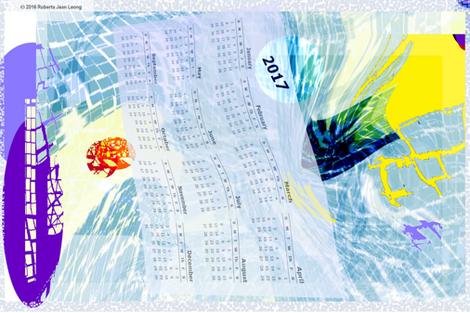 Jean Leong's 2017 Calendar fabric by jeanlong on Spoonflower - custom fabric