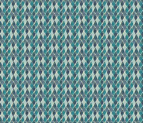 Obi - Warm Blues fabric by jodiebarker on Spoonflower - custom fabric