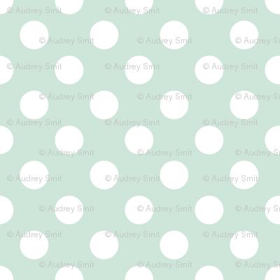 Polka dot in soft mint - tight