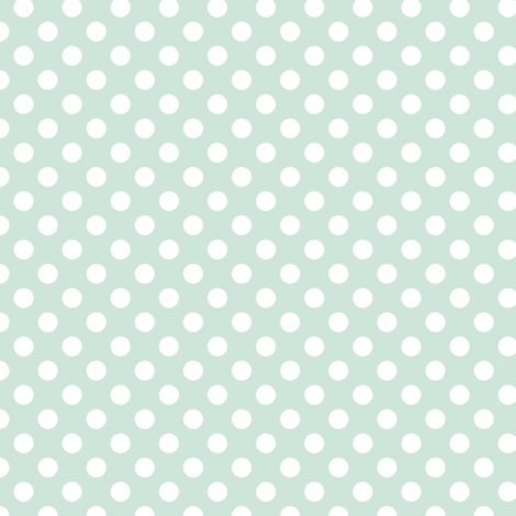 Polka dot in soft mint - tight fabric by thislittlestreet on Spoonflower - custom fabric