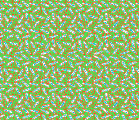 Pods Small - Apple Green Mix fabric by jodiebarker on Spoonflower - custom fabric