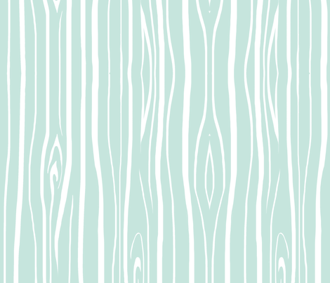 Woodgrain - Mint fabric by sugarpinedesign on Spoonflower - custom fabric