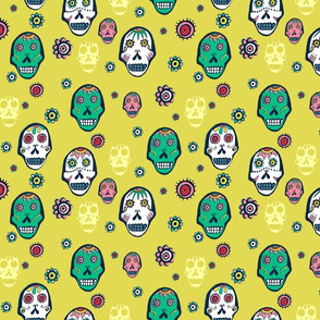 Sugar Skulls Yellow