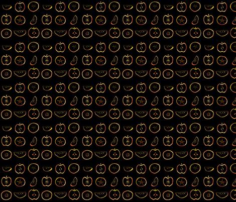 Golden apple fabric by jmclemenson on Spoonflower - custom fabric