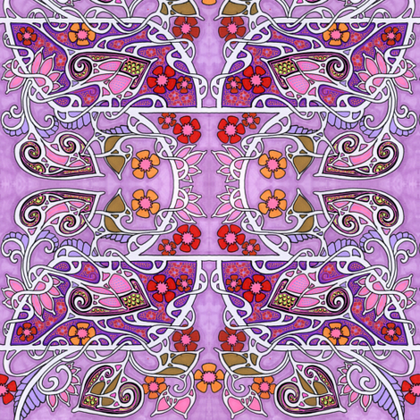 Lavender with a Twist fabric by edsel2084 on Spoonflower - custom fabric