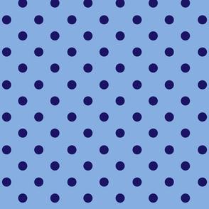 Polka Dot Double Blue