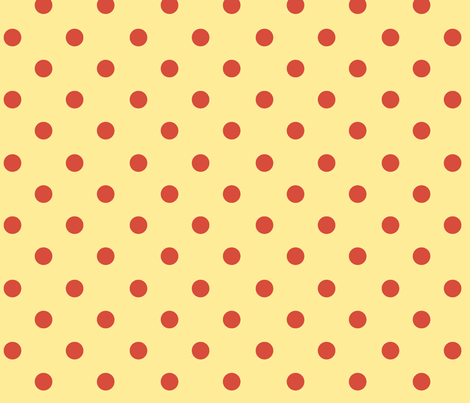Polka Dot Lucy's Red and Yellow fabric by natalie&cheryl on Spoonflower - custom fabric