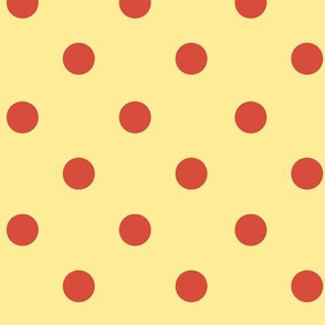 Polka Dot Lucy's Red and Yellow