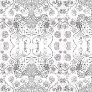 Floral Doodle Kaleidoscope