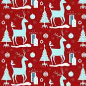 My Deerest Christmas red