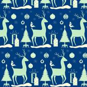 My Deerest Christmas pale green blue cream