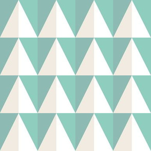 Mint and cream triangles_Miss Chiff Designs