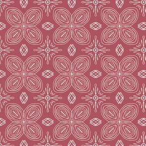 "Floral Petal Tile Bandana Large 8 per 21"""