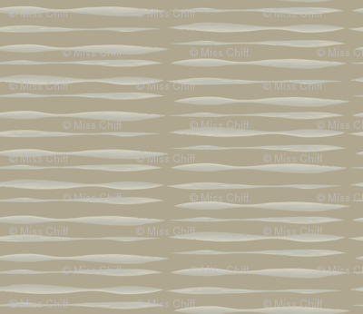 Watercolor Stripe  Taupe