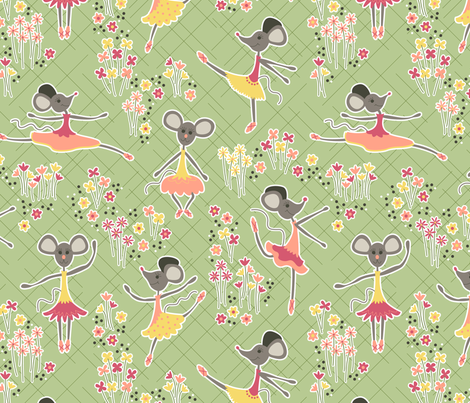 Dancing Mice (Autumn) fabric by brendazapotosky on Spoonflower - custom fabric