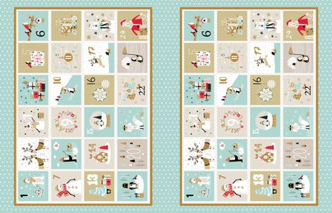 Elegant Advent Calendar Placemat  fabric by martamunte on Spoonflower - custom fabric