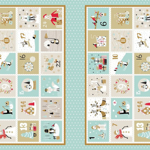 Elegant Advent Calendar Placemat