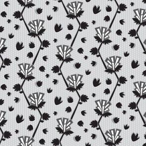 Art Deco Floral on Gray_Miss Chiff Designs