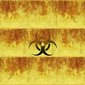 Rusted Barrel Stripe with Biohazard Symbol