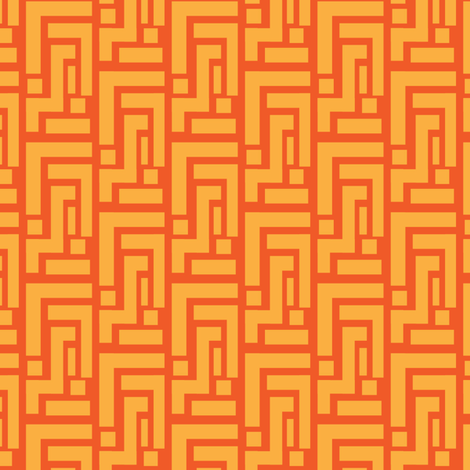 Carrot Orange geometric on tangerine_Miss Chiff Designs fabric by misschiffdesigns on Spoonflower - custom fabric