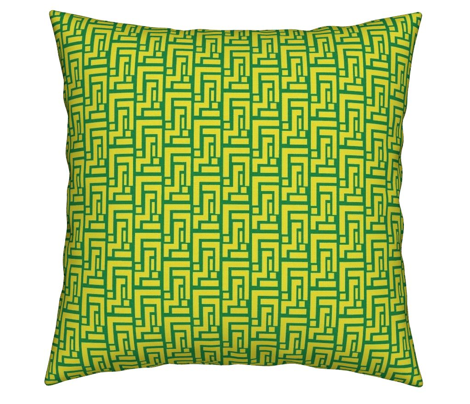 Spring Geometric Kelly Green on Lemon Yellow_Miss Chiff Designs