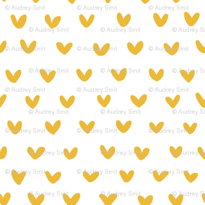 Tiny gold hearts