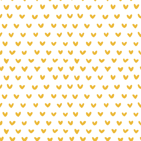 Tiny gold hearts fabric by thislittlestreet on Spoonflower - custom fabric