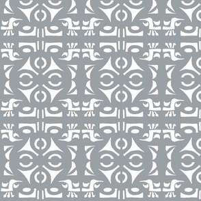 TRIBAL HORNS Silver Grey